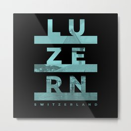 Lucerne Swiss City Urban Metal Print