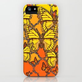 YELLOW & ORANGE MONARCH BUTTERFLIES ART iPhone Case