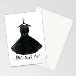 Little black dress on a hanger Stationery Cards