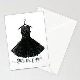 Little black dress on a hanger Stationery Cards