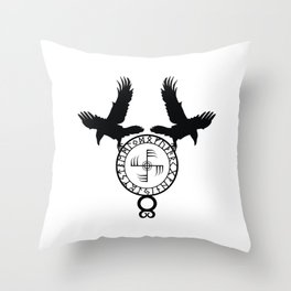 Norse Ravens - Ginfaxi Throw Pillow