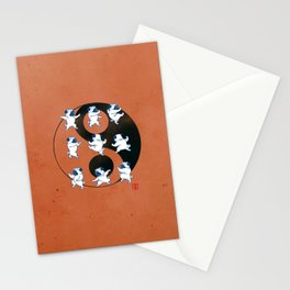 Pug Tai Chi Moves Stationery Cards