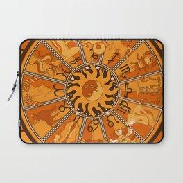Harley and J Zodiac Orange Laptop Sleeve