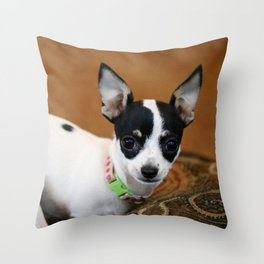 Puppy Portrait Throw Pillow