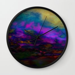 deep purple sky Wall Clock
