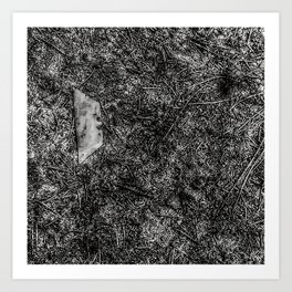 Razor Blade Found Object (Paint Daubs) Art Print
