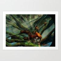 Forest Parkour  Art Print