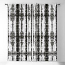 Black and White Tiki Shibori Blackout Curtain