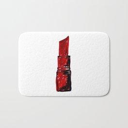 Ruby Red Lipstick  Bath Mat