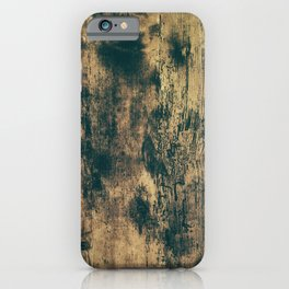 Old timber wood texture pattern iPhone Case