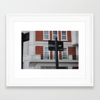 221b Framed Art Prints featuring 221B by Sandrine Bandura