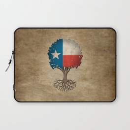 Vintage Tree of Life with Flag of Texas Laptop Sleeve