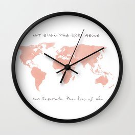 You & I Wall Clock