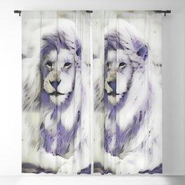 Blue Albino Lion Blackout Curtain