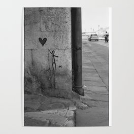 Reaching for love in Pisa Poster