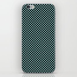 Black and Limpet Shell Polka Dots iPhone Skin