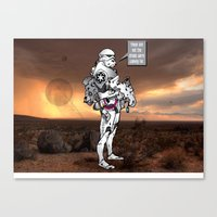 trooper Canvas Prints featuring trooper by Bern