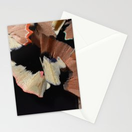 Colored Pencil Shavings Stationery Cards