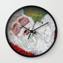 Christmas Kisses Wall Clock