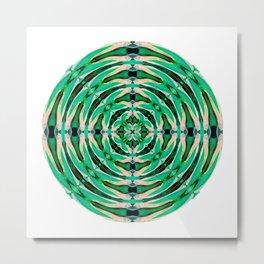 285 - Hosta abstract orb Metal Print