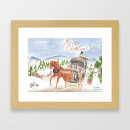 Christmas in Horse Valley Framed Art Print