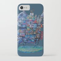 fandom iPhone & iPod Cases featuring Fandom Moving Castle by nokeek