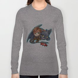 Httyd 2 - Chibi Hiccup and Toothless Long Sleeve T-shirt