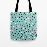 penguins Tote Bags featuring Penguins! by Kashidoodles Creations