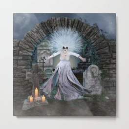 Graveyard Widow Metal Print