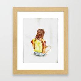 Sitting Around Framed Art Print