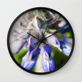 Lupine Flower Photography Print Wall Clock