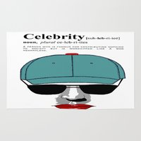 celebrity Area & Throw Rugs featuring Celebrity by jt7art&design