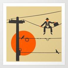 Man On A Wire Art Print