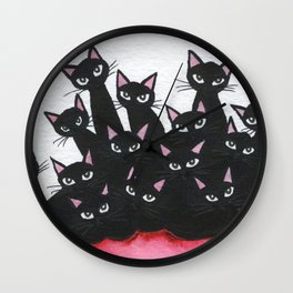 Springfield Black Whimsical Cats Wall Clock