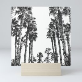 Palm Tree Days {2 of 2} Tropical Black and White Cali Art Print Mini Art Print
