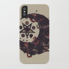 The Dark Moon Compels You to Fuck Shit Up iPhone X Slim Case