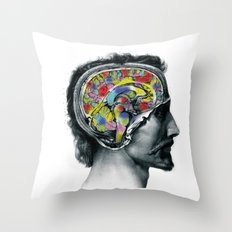 Brain colors fashion Jacob's Paris Throw Pillow