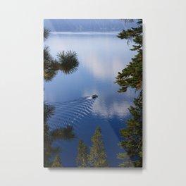 Boat on Crater Lake, Oregon Metal Print