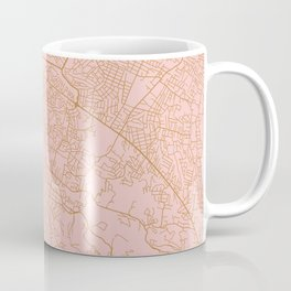 Pink Port au Prince map Coffee Mug