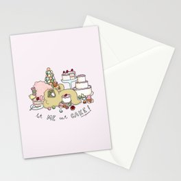 let me eat cake Stationery Cards