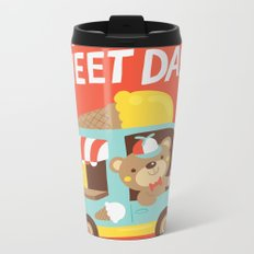 Ice Cream Bear Metal Travel Mug