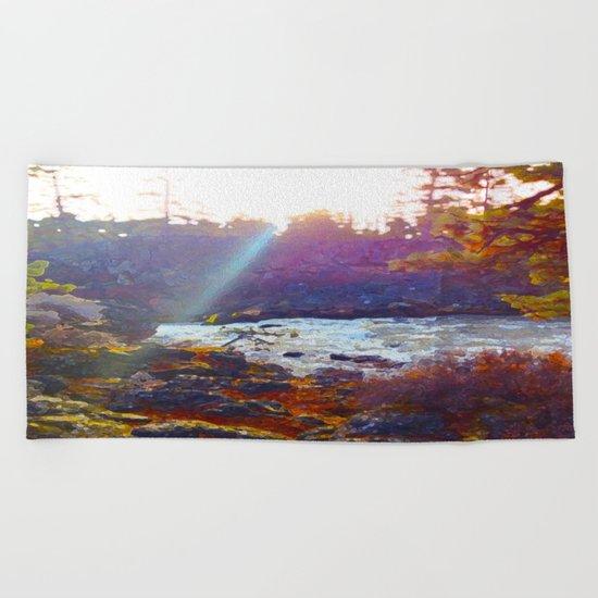 Benham Falls Beach Towel