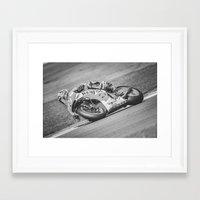marc allante Framed Art Prints featuring Marc Marquez by Alex Malyon