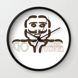 GO COMPARE..MOUSTACHES Wall Clock
