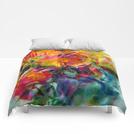 abstract about wine, flowers, party Comforters