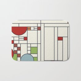 Frank lloyd wright pattern S02 Bath Mat