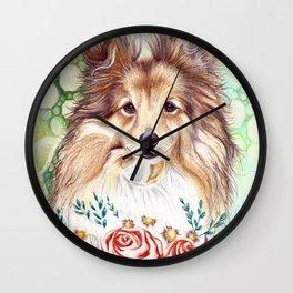 Sweet Sheltie Wall Clock
