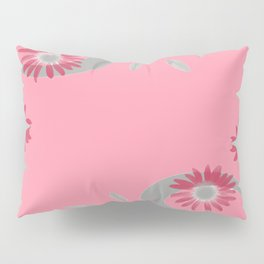 Floral Scroll Design - Strawberry Red Pillow Sham