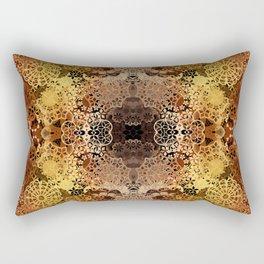 FLORAL GOLD PATTERN I Rectangular Pillow