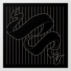Ribbon & Stripes Art Print